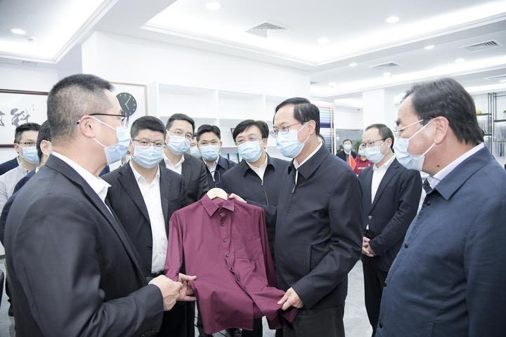 省委书记在绍兴调研,进一步肯定落实轻纺城这张金名片